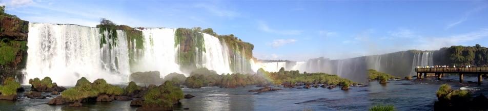 Cartão postal de Foz do Iguaçu - Cataratas