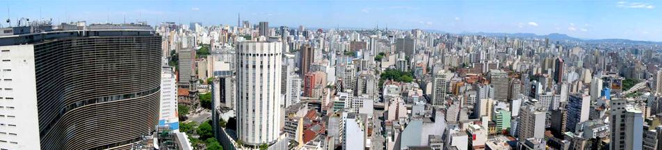 Cidade de São Paulo vista de cima
